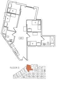 ucsb sbcc 4 bedroom 2 bath student housing with ocean view sq ft the loop type c 1 unit 307 floorplan