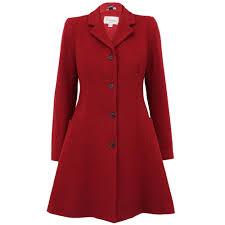 la s coat womens jacket wool look belt long trench warm winter