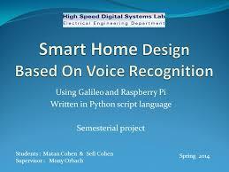 galileo design smart home design based on voice recognition ppt