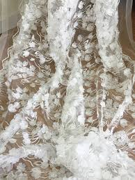 exquisite 3d chiffon blossom bridal lace fabric by yard 3d