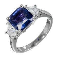 chagne engagement ring suchy color change sapphire platinum engagement ring