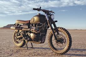 triumph motocross bike triumph scrambler by british customs british scrambler and custom