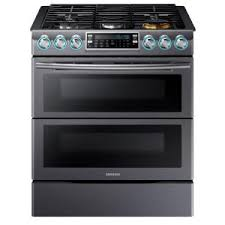 home depot stoves black friday samsung flex duo 5 8 cu ft slide in double oven gas range with