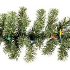 6 ft battery operated douglas fir garland with white led lights and
