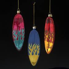 kurt adler noble gems glass surfboard with design