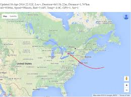 Nj Path Map Dave Ve3kcl Qrp Labs Balloon S 9 Now Flying Wsprnet