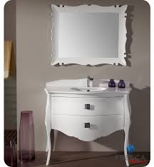 45 fresca platinum glossy white bathroom vanity w