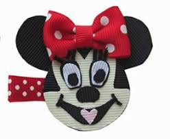 minnie mouse hair bow minnie mouse inspired hair clip minnie mouse inspired hair bows