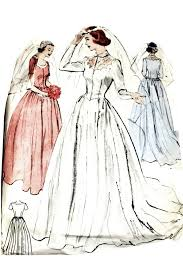 vintage wedding dress patterns 1950s wedding dress vintage pattern butterick 5932 dressing vintage