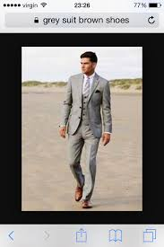 light gray suit brown shoes pin by dan collis on our wedding pinterest wedding