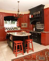 sparkling red birch cabinets with tray ceiling beverage cooler