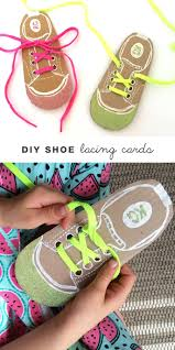 diy shoe lacing cards lacing cards kids learning and shoe lacing
