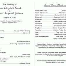 wedding bulletins exles printable program templates template exles