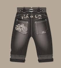 trousers jeans flat sketch kidsfashionvector cute vector art