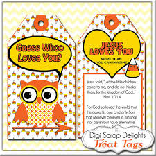 owl printable scripture treat tags corn owls