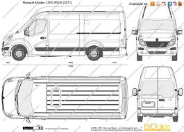 renault master 2011 the blueprints com vector drawing renault master l3h3 rwd