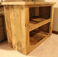 furniture reclaimed wood accent table with two open shelf