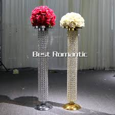 80 cm gold silver wedding centerpiece glass support 25 cm