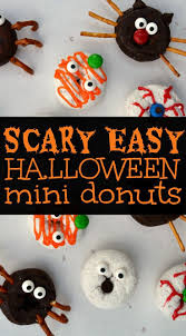 Mini Halloween Cakes by Scary Easy Halloween Donuts Kid Food Fun Halloween Donuts And