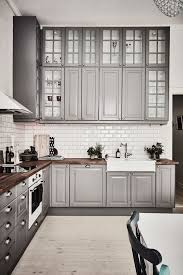 Mahogany Kitchen Cabinet Doors Stone Countertops Gray And White Kitchen Cabinets Lighting