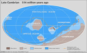 North American Time Zones Map by A Journey Through Time Since The Precambrian Britannica Com