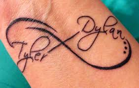 tattoo name infinity infinity tattoo with kids names similar to one i have been thinking
