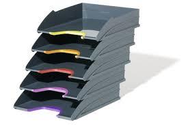 rangement documents bureau corbeille à courrier à 5 étages bac de classement rangement de bureau