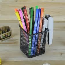 Pencil Holder For Desk Metal Mesh Pencil Holder Stationery Organizer Storage Office Desk