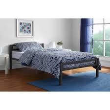 Twin Bed Mainstays Premium Metal Twin Bed Multiple Colors Walmart Com