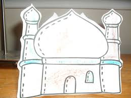 a muslim child is born masjid center piece mobile craft