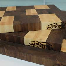 hand made wood butcher blocks cutting boards colorado wood slice walnut and maple cutting board
