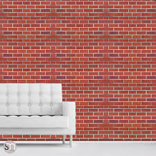 Removable Wallpaper Tiles by Red Brick Wall Self Adhesive Removable Wallpaper By