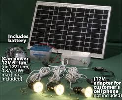solar powered led lighting system 3 led bulbs 25 watt solar panel
