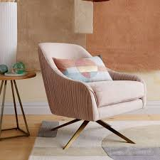 West Elm Armchair Roar Rabbit Swivel Chair Dusty Blush West Elm Au