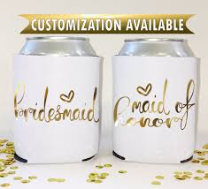 customized wedding favors bachelorette favors personalized can coolers customized