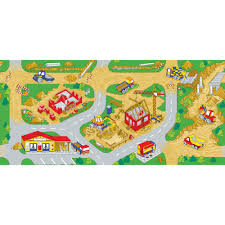 learning carpets play carpet construction zone multi kids rug lc