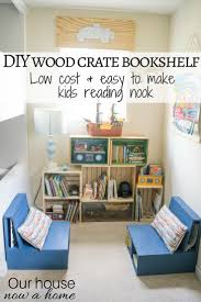 diy wooden crate bookshelf making the perfect kids reading nook