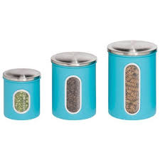 blue kitchen canister set blue kitchen canister sets of 3 amazon com