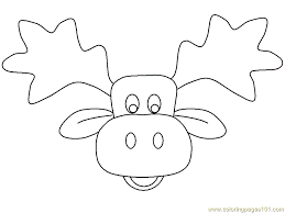 moose template picture moose az coloring pages clip library