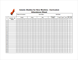 Attendance Spreadsheet 10 Attendance Sheet Templates Free Word Excel Pdf Documents
