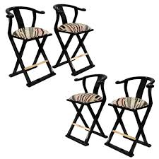 set of 4 asian style black lacquered bar stools u2014 lobel modern nyc