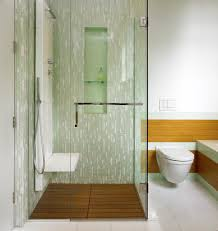 tile shower bench ideas bathroom contemporary with wood shower
