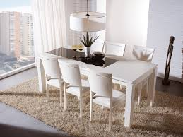 Dining Room Armchairs White Dining Room Chairs Set With Leather Wooden Base And