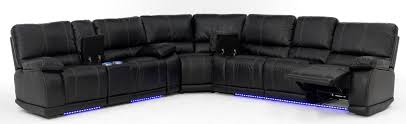 electra power reclining sectional with led lights