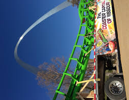 6 Flags St Louis Piece Of New Six Flags Roller Coaster Parks In Front Of The