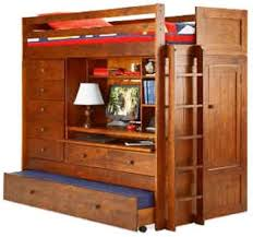 All In One Loft Bunk Bed With Trundle Desk Chest Closet - Trundle bunk bed with desk