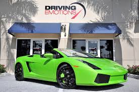 green lamborghini gallardo for sale 2008 lamborghini gallardo spyder spyder stock 5480 for sale near