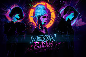 home decoration neon bitches synthwave music cyberpunk