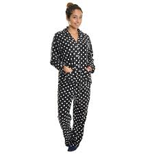 womens fleece pajama set at s clothing store