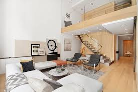 Modern Furniture In New York by Interior Design Of A Duplex Apartment In New York